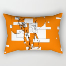 Orange is the New Elephant Rectangular Pillow