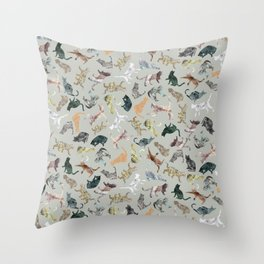 Marble Cats Throw Pillow