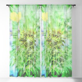 Abstract in Perfection - Blowball Sheer Curtain