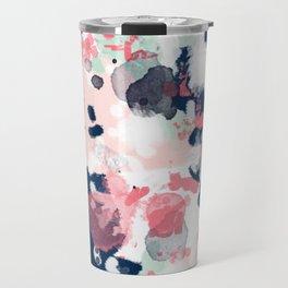 Hayes - abstract painting minimal trendy colors nursery baby decor office art Travel Mug