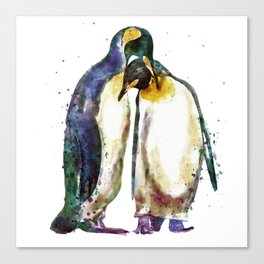 Penguin couple Canvas Print