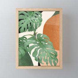 Tropical Leaves- Abstract Art  Framed Mini Art Print