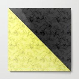 Black , yellow , lemon Metal Print