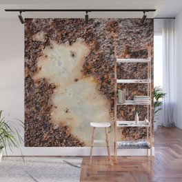 Cool brown rusty metal texture Wall Mural