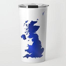 United Kingdom Map silhouette Travel Mug