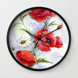 Poppies 08 Wall Clock