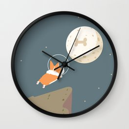 Fly to the moon Wall Clock