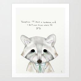 rusty racoon Art Print