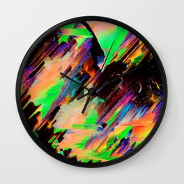 Dreaming of Neon Wall Clock