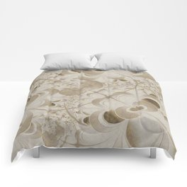 Abstract beige pattern Comforters