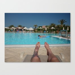 holiday feet Canvas Print