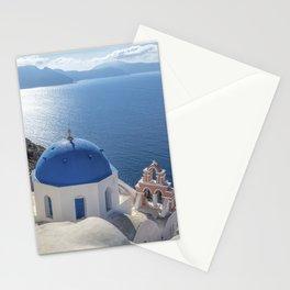 Santorini island in Greece Stationery Cards
