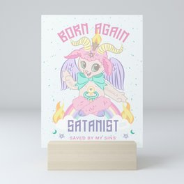 Born Again Satanist Mini Art Print
