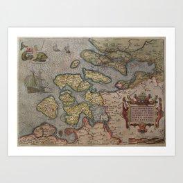 1580 Zelandicarum v Deventer Art Print