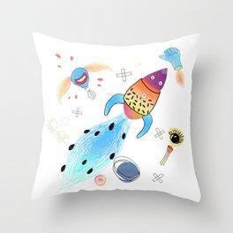 Rocket Throw Pillow