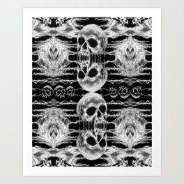 Freak Skull Pattern Art Print