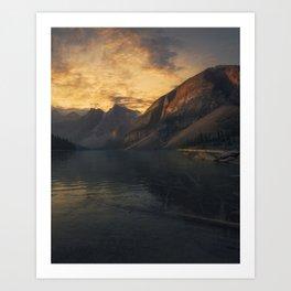 Sunset Chilling Art Print