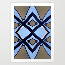geometry and the sky Art Print