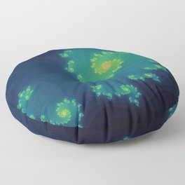 Vibrant Fractal Floor Pillow