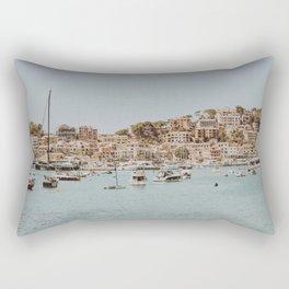 at the harbor Rectangular Pillow