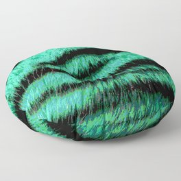 Neon green stripes Floor Pillow