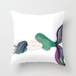 Sirena Dormida (Sleeping Mermaid) Throw Pillow