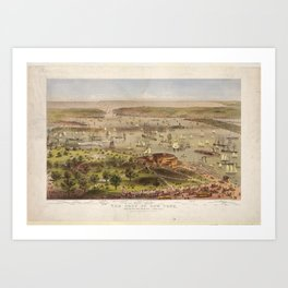 Port of New York from the Battery looking South (1878) Art Print