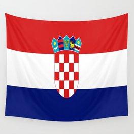 Flag of croatia -croatian, Hrvatska,croat,croacia,Zagreb,split,rijeka,osijek. Wall Tapestry