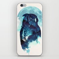 stars iPhone & iPod Skins featuring Midnight Owl by Robert Farkas