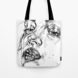 Colored Pencil Portrait Tote Bag