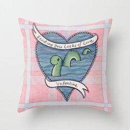 Nessie Valentine Throw Pillow