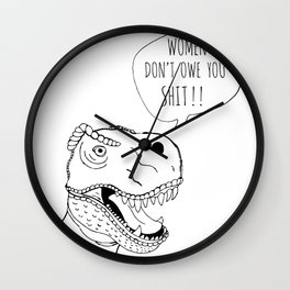 Feminist T-Rex Wall Clock