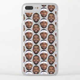 Kyrie and LeBron pattern Clear iPhone Case