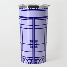 ART DECO, ART NOUVEAU IRONWORK: French Blue Travel Mug