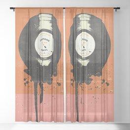 VINTAGE VINYL DRIP Sheer Curtain