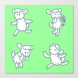 Stickimals - Sheep Canvas Print