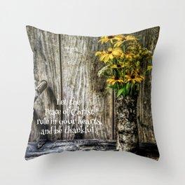 Summer Thankfulness Throw Pillow