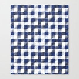 Blue Vichy Canvas Print