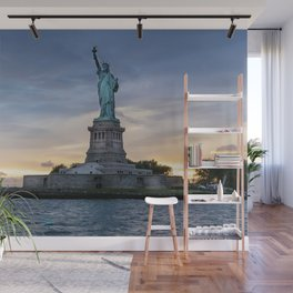 Statue of Liberty in New York at sunset Wall Mural