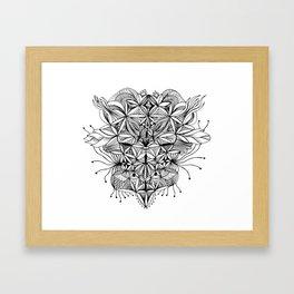 Face Enigma Framed Art Print