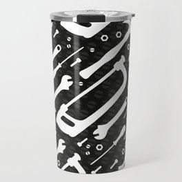 Black and White Tools Travel Mug