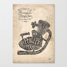 Hand lettering engine Canvas Print