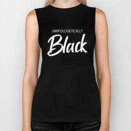 Unapologetically Black (white) Biker Tank