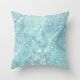 Shining starry marble Throw Pillow