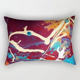 Accidental Art paint color wave chevron Rectangular Pillow