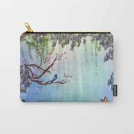 Purple Wisteria Springtime Carry-All Pouch