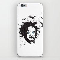 einstein iPhone & iPod Skins featuring Einstein by KaytiDesigns