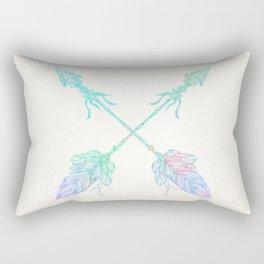 Arrows Blue Green Pink Vintage Cream Rectangular Pillow