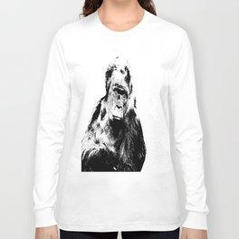 Gorilla In A Pensive Mood Portrait #decor #society6 Long Sleeve T-shirt