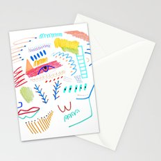 Face. abstract, pattern Stationery Cards